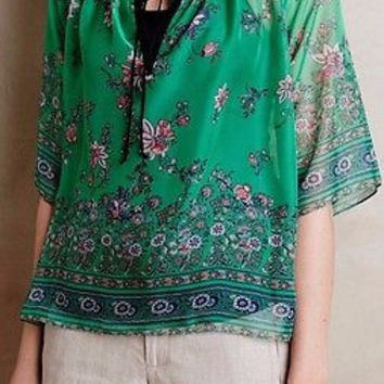 NWT Anthropologie Nattaz Peasant Top Sz S - by Konrad + Joseph
