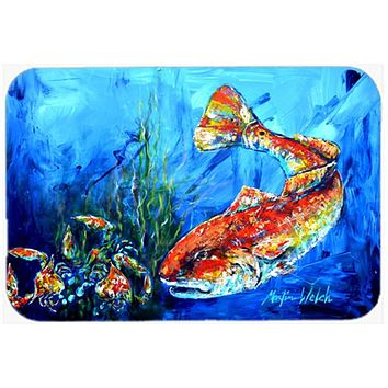 Scattered Red Fish Glass Cutting Board Large MW1214LCB