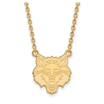 NCAA 10k Yellow Gold Arkansas State Large Pendant Necklace