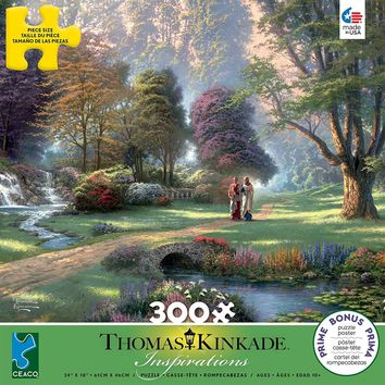 300 Piece Oversized Thomas Kinkade Inspirations Puzzle- Walk of Faith