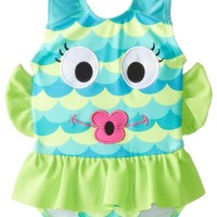 Candlesticks Baby Girls' Fishlicious Green Swimsuit