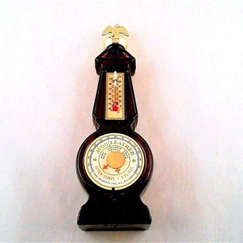 Avon Collectible Bottle: Vintage Thermometer Brown Glass Leather 5 Fl OZ  #2