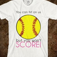 Softball T-Shirt-Unisex White T-Shirt