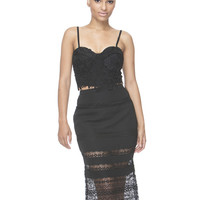 MILEY LACE MIDI SKIRT