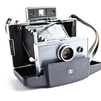 Vintage Polaroid Automatic 100 Land Camera - 1960s Instant Fold Up Accordion Photography / Paparazzi