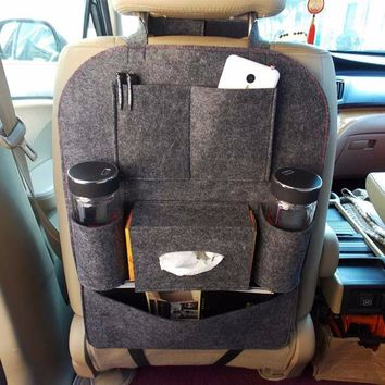 Car Seat Back Cover Multi-Pocket Storage
