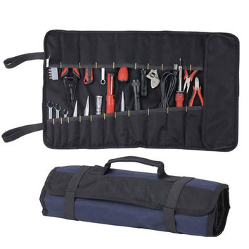 Portable Oxford Canvas Chisel Roll Rolling Repairing Tool Utility Bag Multifunctional With Carrying Handles Brand New Tool Bag