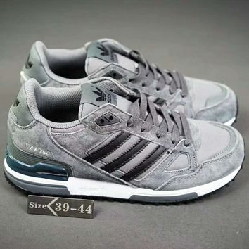 Adidas ZX750 Fashion Casual Running Sport Sneakers Shoes Grey G-XYXY-FTQ
