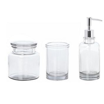Glass basin accessories range