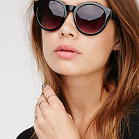 D-Frame Interior Print Sunglasses