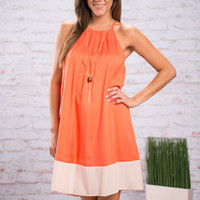 Set Things Straight Dress, Orange