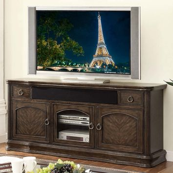 "Grand Palacio Collection 76"" TV Stand Console Distressed Black Licorice"