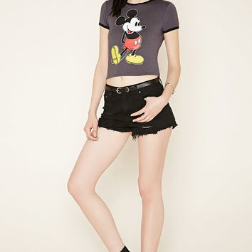 Mickey Mouse Ringer Crop Top | Forever 21 - 2000153077
