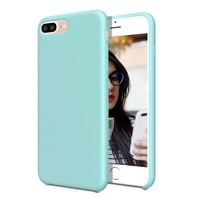 AQT iPhone 7 Plus Case / iPhone 8 Plus Case, Liquid Silicone Case with Shock Absorbing Multi Layer Protection for Apple iPhone 7 & 8 Plus, For girls Women Men Kids Girls - Turquoise