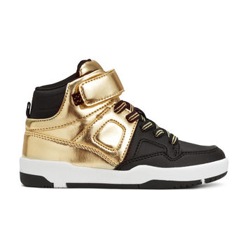 H&M - High Tops - Black/Gold - Kids