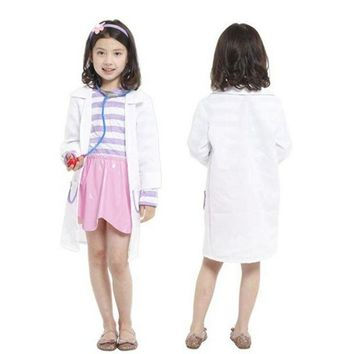 DCCKH6B Disfraces Girls Nurse Cosplay Kids Doctors Costume Masquerade Fantasia Halloween Costumes for Children Fancy dress