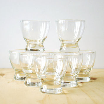 Mid Century Cocktail Glasses Eva Zeisel Style Lo-Ball Glasses Mad Men Style LARGE