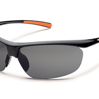 Suncloud - Zephyr Black Sunglasses, Gray Polarized Lenses