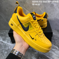 HCXX N1325 Nike Air Force 1 AF1 Dumr Low Logo Creative Fashion Casual Skate Shoes Yellow