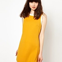 Pop Boutique Shift Dress with Button Back at asos.com