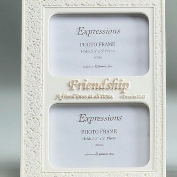 """8.75"""" Inspirational Proverbs Friendship Double 3.5""""x5"""" Photo Frame #47565"""