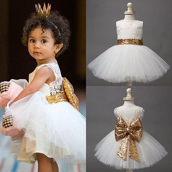 Baby Girl Toddler Girl Princess Dress Lace Christening Gown Children's Tutu Party Costume For Girl Kids Clothes