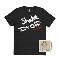 PRE BUY Black Shake It Off Ladies Tee CD Package