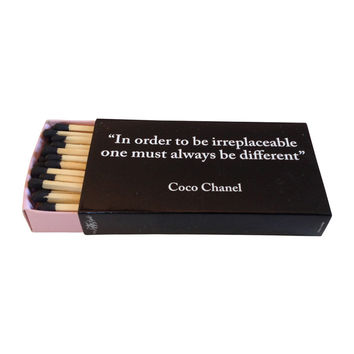 "Coco Chanel 4"" Matchbox"