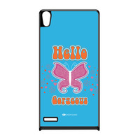 Sassy - Hello Gorgeous 10433 Black Hard Plastic Case for Huawei P6 by Sassy Slang