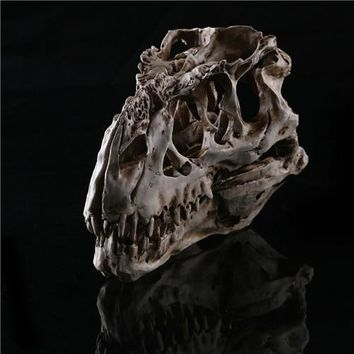 Skull Skulls Halloween Fall Newest Collectibles light color Tyrannosaurus Rex dinosaur Resin Fossil  Model 15*11.5*8cm Calavera
