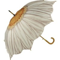Galleria White Daisy Stick Umbrella:Amazon:Clothing