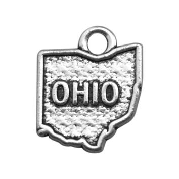 Minimal Restro OHIO Metal Country Map Series Charms for Neckalce/Bracelets Jewelry Making 20pcs/lot