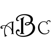 Monogram Decal with Harrington Font - Multiple Colors & Sizes
