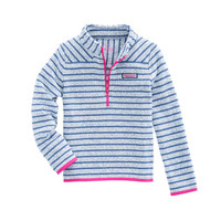Girls Stripe Sweater Fleece Shep Shirt