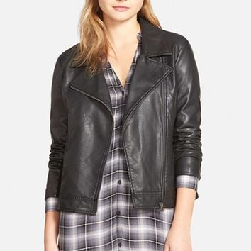 Women's cupcakes and cashmere 'Union' Faux Leather Biker Jacket,