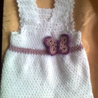 Lilac Baby Girl Dress, Baby Clothes, Girl Clothing, Child frock, Infant Clothes, Crochet Baby Dress, Infant Dress, Christmas Baby Dress