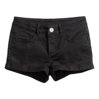 H&M - Twill Shorts - Black - Kids