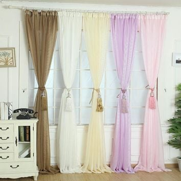 Super Deal Elegant Tulle Door Window Curtain Drape Panel Sheer Scarf Valances XT