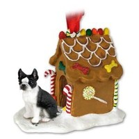 Boston Terrier Gingerbread House Ornament