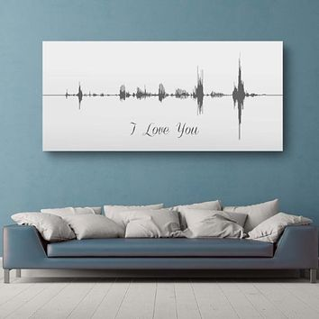 Sound Wave Canvas - A Personalized Design Using Your Voice On Canvas