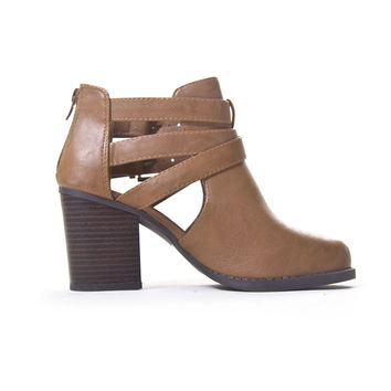 Buckle Up Ankle Boot In Tan