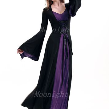 MOONIGHT Female Halloween Witch Costume Masquerade Party Cosplay Dress Carnival Women Girl Costumes