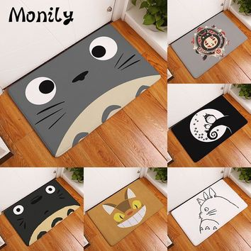Autumn Fall welcome door mat doormat Monily Welcome Waterproof  Cartoon Cute Totoro Kitchen Rugs Bedroom Carpets Decorative Stair Mats Home Decor Crafts AT_76_7