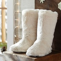 Fur Booties - Polar Bear