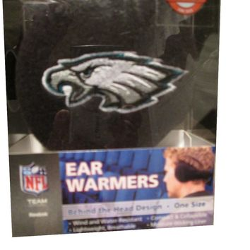 Philadelphia Eagles Fleece Adult Size Ear Warmers / Ear Muffs