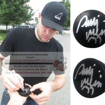 Antti Niemi Autographed Ice Hockey Puck, Dallas Stars, San Jose Sharks, Proof Photo