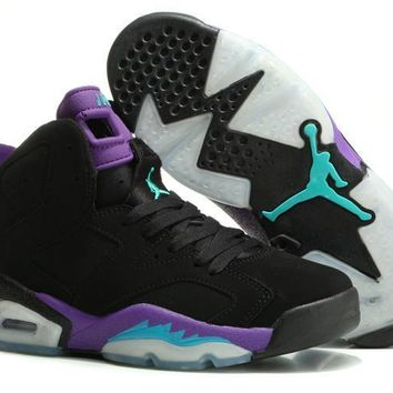 Beauty Ticks Vawa Womens Air Jordan 6 Retro High Basketball Shoes Black Purple