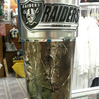 NFL Oakland Raiders 16oz Stainless Steel RealTree Camouflage Tumbler