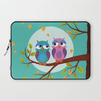 Sleepy owls in love Laptop Sleeve by EDrawings38 | Society6