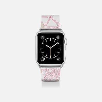 romantic hollyhock transparent apple watch band Apple Watch Band (38mm)  by Sharon Turner | Casetify